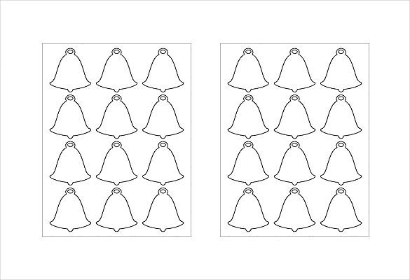 bells shape free label template download