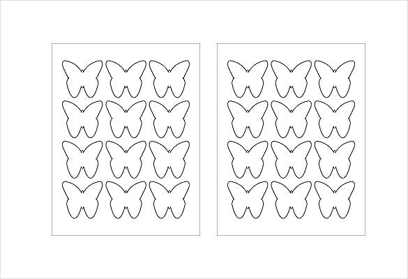 butterfly sample example format free label template download