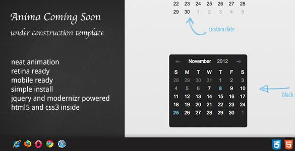 dzs jquery mini events calendar html file download