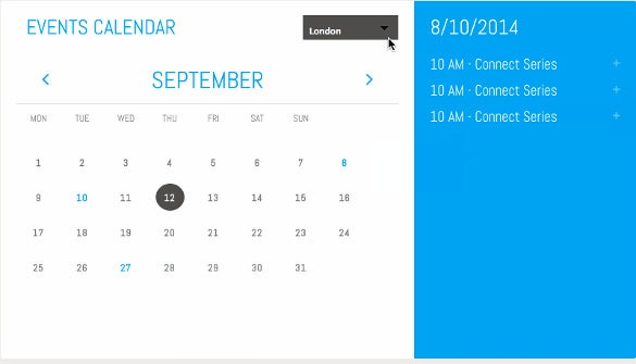 annual calendar of events template.html