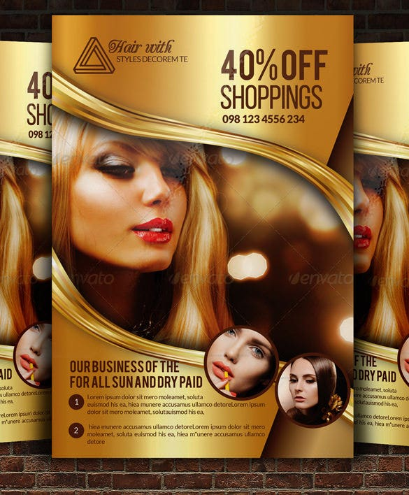 Hair Psd Free Download: 66+ Beauty Salon Flyer Templates