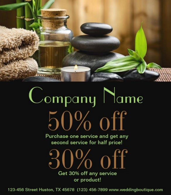 Bamboo SPA Products Beauty Salon Business Flyer