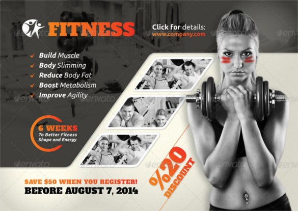 Free Fitness Flyer Templates Free Fitness Gym Flyer PSD Template – Fitness Templates Free