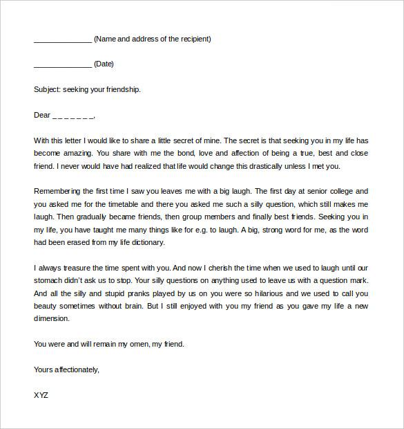 letter format friendly letter format printable friendly letter