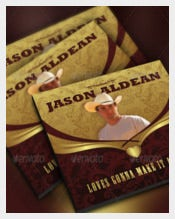 Country Artist Sample CD Label