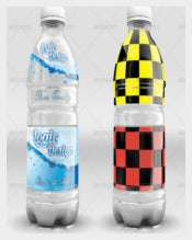 Beverage Water Bottle Label