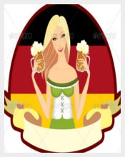 Oktoberfest Girl Beer Label