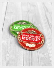 Drink Coasters Round and Square Label
