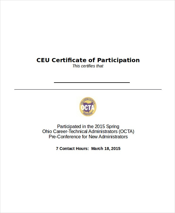 Painting Certificate Of Participation