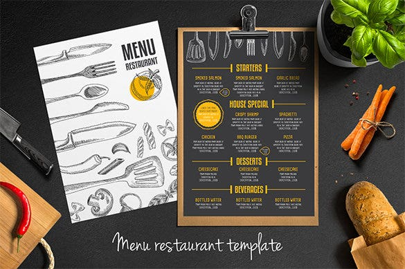 Restaurant flyer templates 65 free word pdf psd eps for Cafe menu design template free download