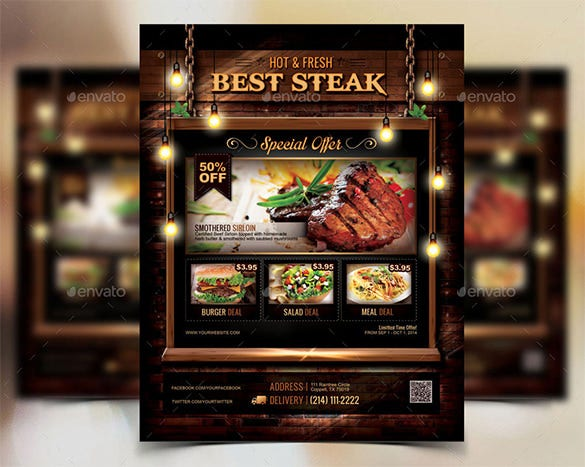 Restaurant Flyer Template u2013 56+ Free Word, PDF, PSD, EPS, InDesign ...