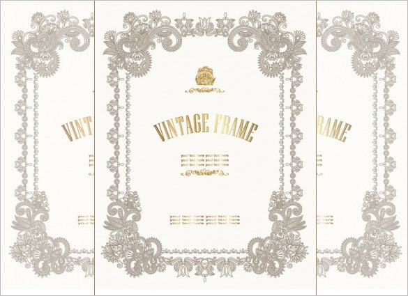 European Style Decorative Pattern Certificate Template  Certificate Border Template Free