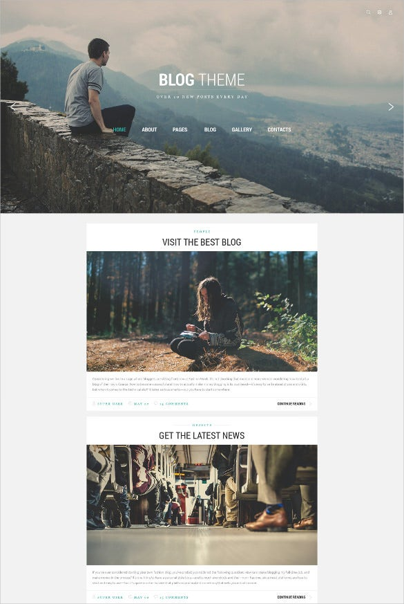 personal blog joomla html5 template
