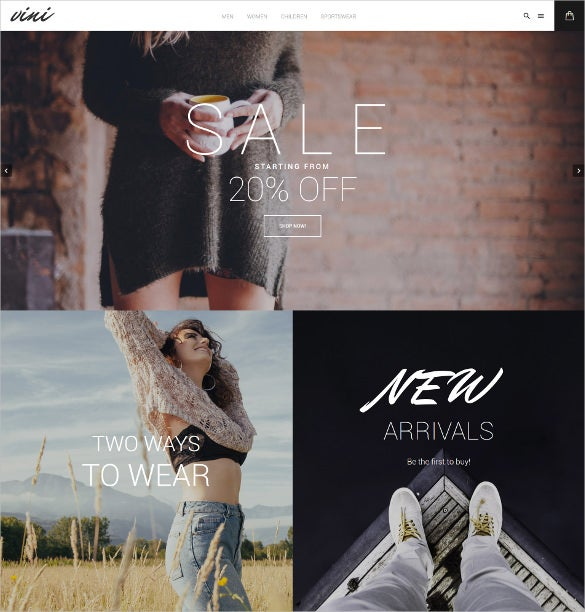 vini fashion shop magento theme