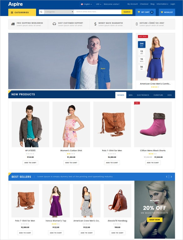 79 New Ecommerce Themes Amp Templates Released In March