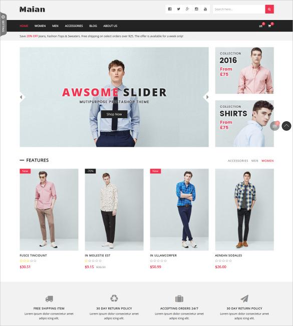 maian premium responsive prestashop ecommerce theme