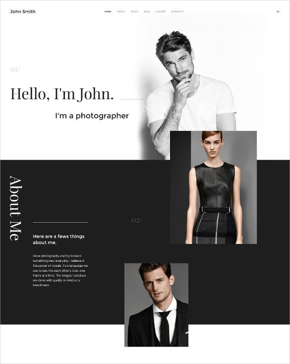 personal portfolio joomla html5 template
