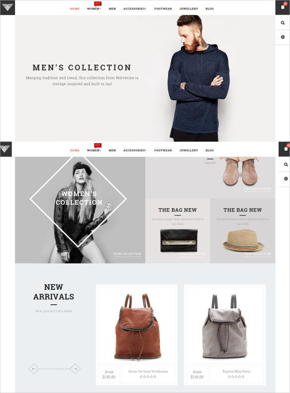 vintage responsive ecommerce shopify ecommerce template