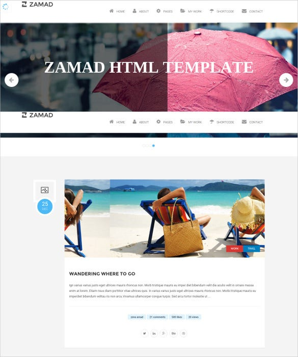 personal html5 blog template