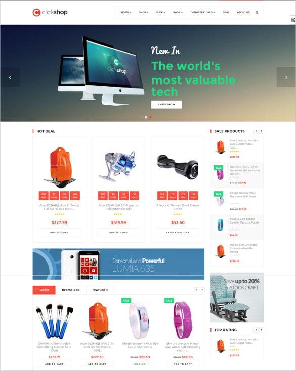 ap click shop shopify responsive ecommerce theme