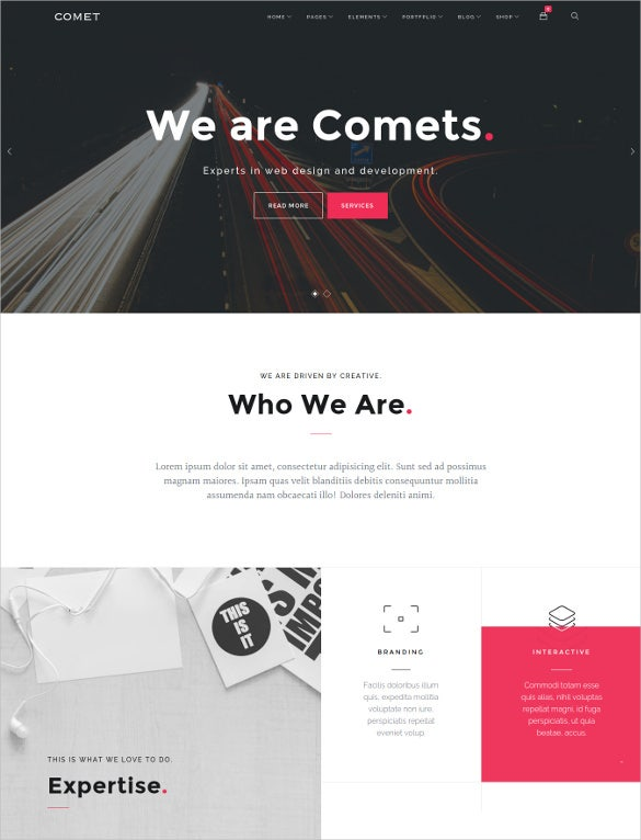 comet creative multi purpose drupal theme