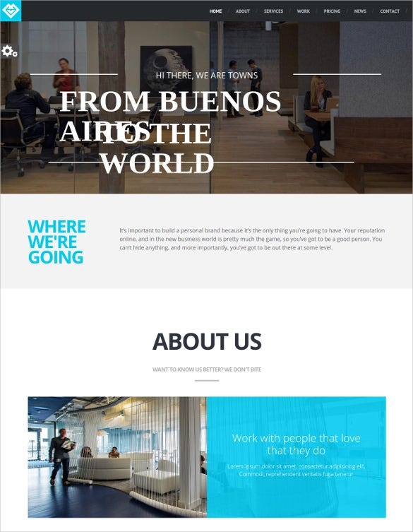 town responsive multi purpose one page drupal theme