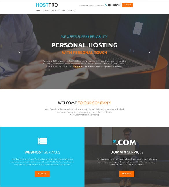 hostpro wordpress blog theme