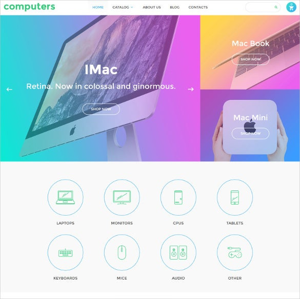 computers virtuemart blog template