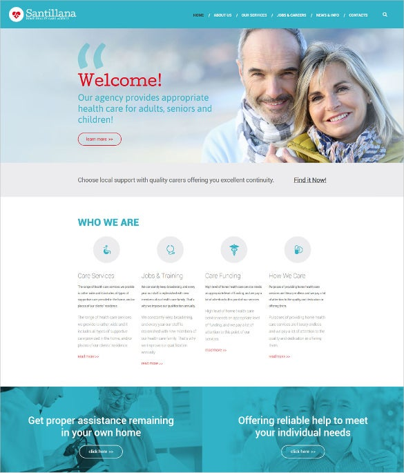 home health care agency drupal blog template