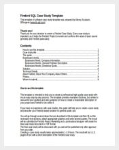 Firebird Case Study Word Template Free