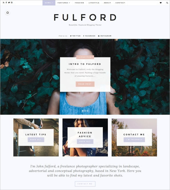 ulford responsive wordpress blogging theme