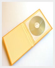 Yellow Colour DVD Case Template