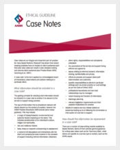 Case Notes for Social Work PDF Teplate Free