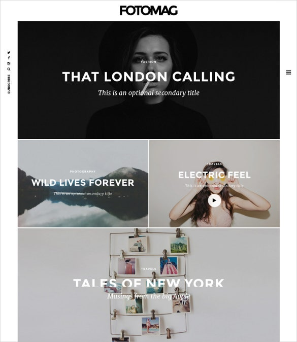 fotomag a silky minimalist blogging magazine wordpress theme