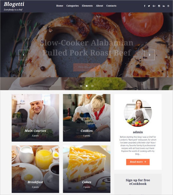 blogetti food blog wordpress theme