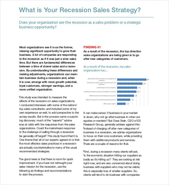 recession sales strategy template 1
