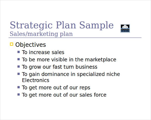 Sales Plan Sample Strategic Sales Plan Template Sample Sales Plan
