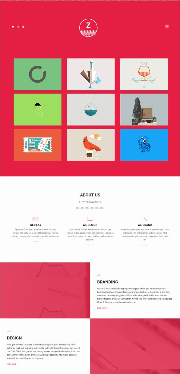 personal agency bootstrap template