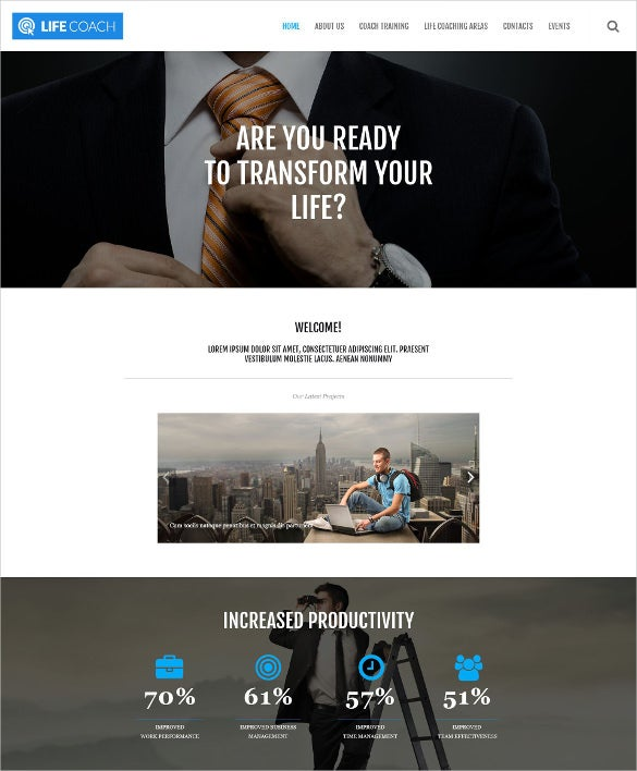 personal life responsive wordpress bootstrap theme