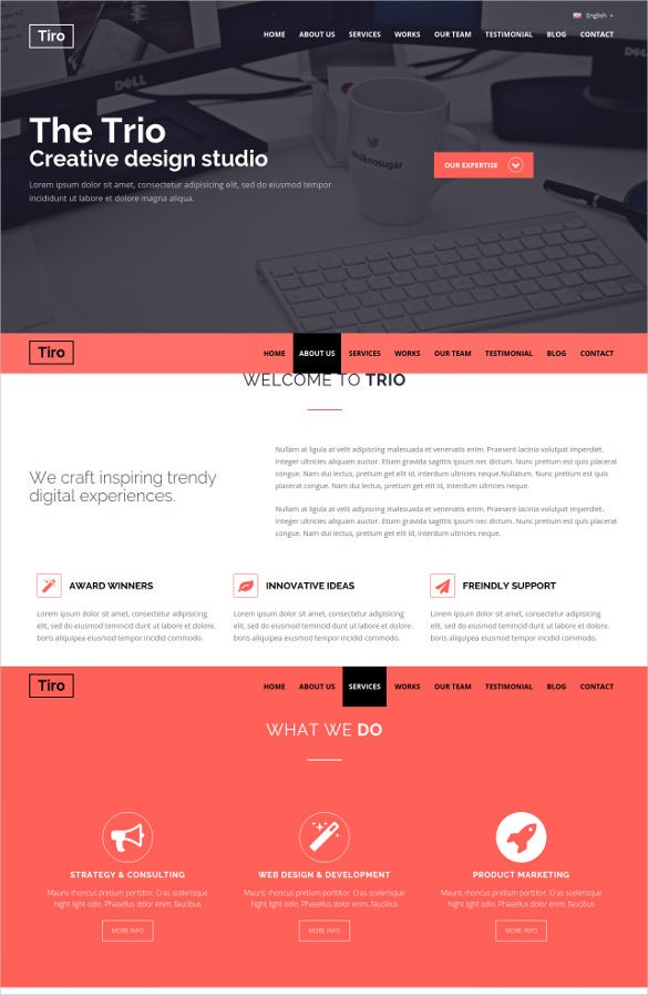 personal bootstrap responsive template