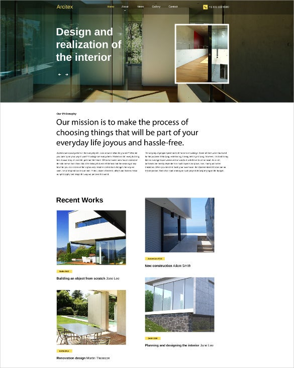 arcitex html5 website template