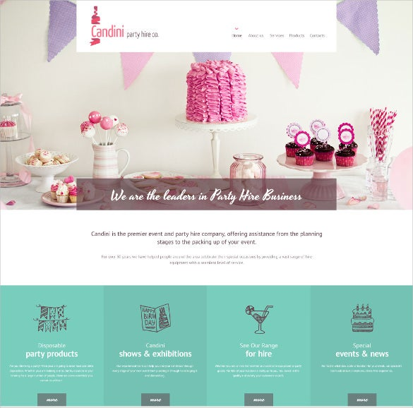 candini html5 website template