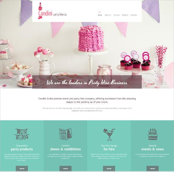 candini html5 website template