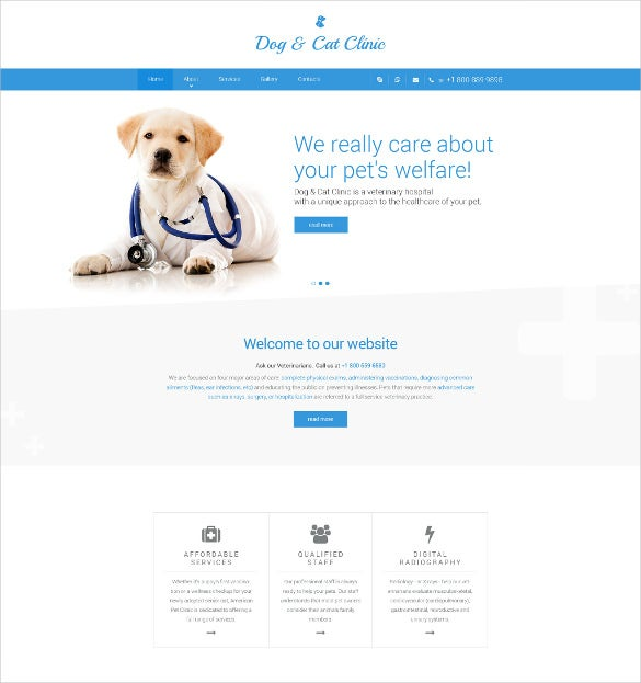 dog cat clinic html5 website template