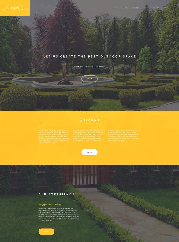 exterior design responsive html5 website template