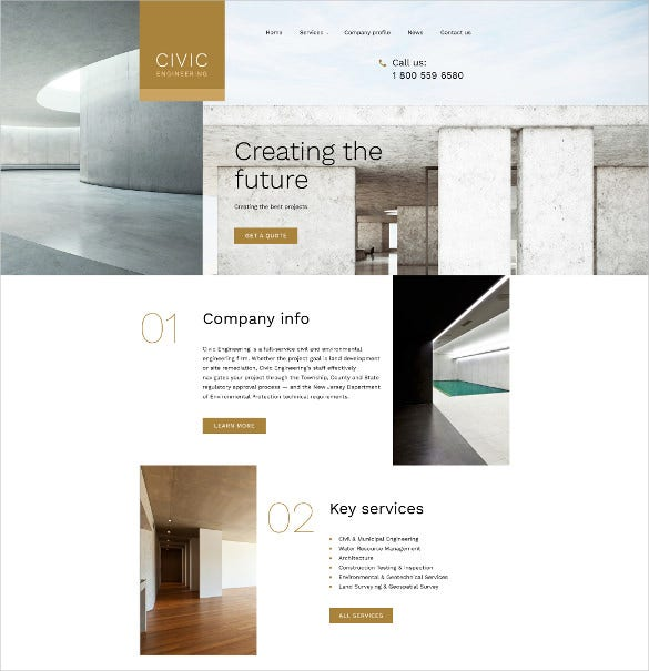 civil engineering responsive html5 website template