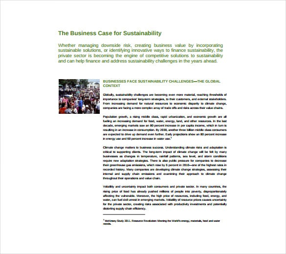 12 business case templates free sample example format download business case for sustainability sample pdf free download fbccfo Image collections
