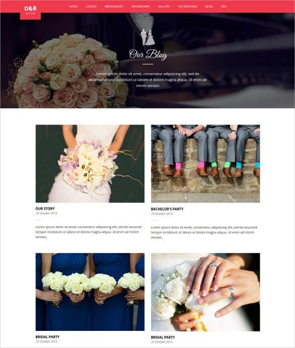 wedz responsive html5 wedding template