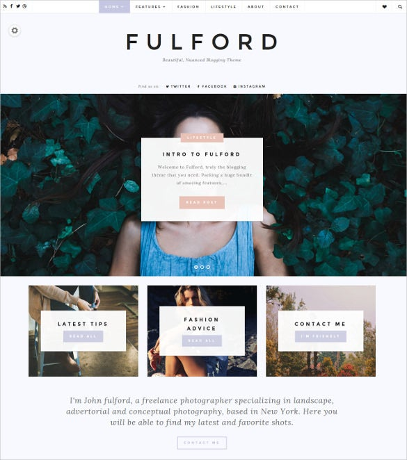fulford responsive wordpress html5 blogging theme