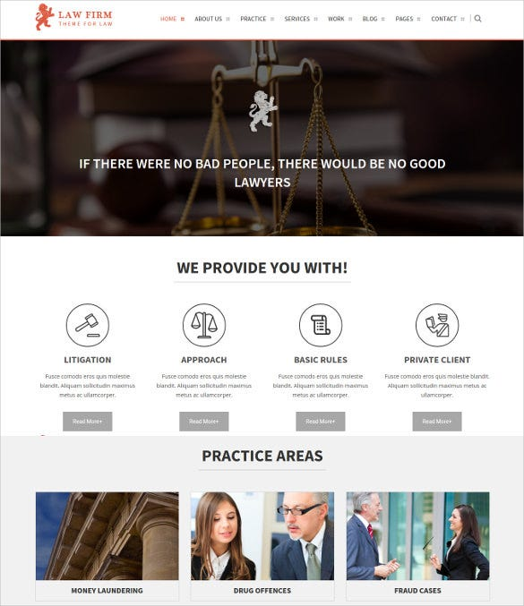law firm wordpress html5 theme